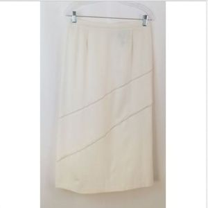 Norton McNaughton sz 12P Winter White Career Skirt